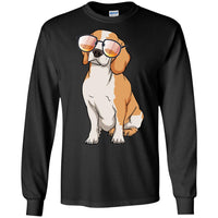 Beagle Long Sleeve Shirt, Cute Gift for Cute Dog Lovers