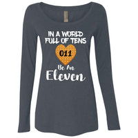 World of Tens Be an Eleven Ladies Scoop Neck Top Shirt