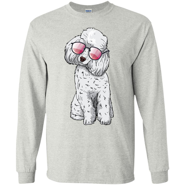 Poodle Long Sleeve Shirt, Cute Gift for Cute Dog Lovers