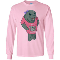 Manatee Lets Cuddle Commercial Long Sleeve T Shirt for Men Women Boys Girls