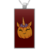 Unicorn Pumpkin Halloween Pendant Necklace, Gifts for Trick Treat Costume Party