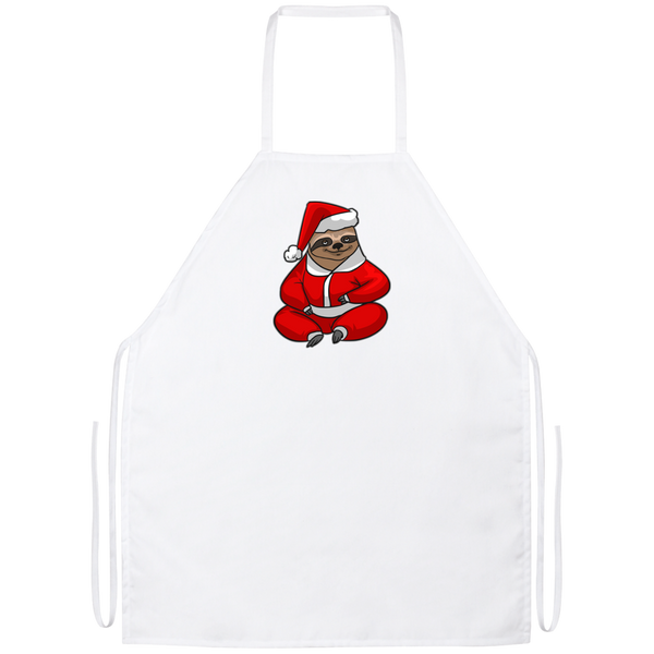 Santa Sloth Kitchen Apron, Christmas Gifts for Sloth Lovers