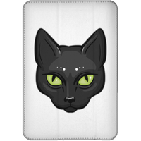 Black Cat Face Flip Case for iPad, Gifts for Cat Lovers