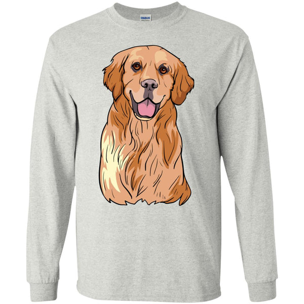 Golden Labrador Retriever Long Sleeve Shirt, Cute Gift for Dog Lovers