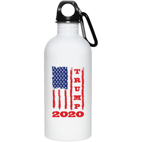 Trump 2020 USA Flag Stainless Steel Water Bottle, Gifts for Republicans Conservative