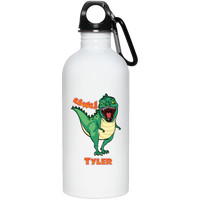 TYLER Dinosaur T-Rex Custom Personalized Stainless Steel Water Bottle