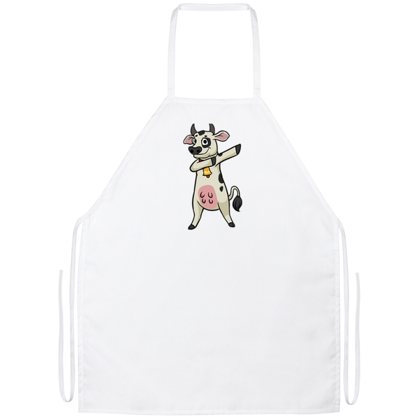 Dabbing Cow Kitchen Apron, Gifts for Farm Animal Lovers