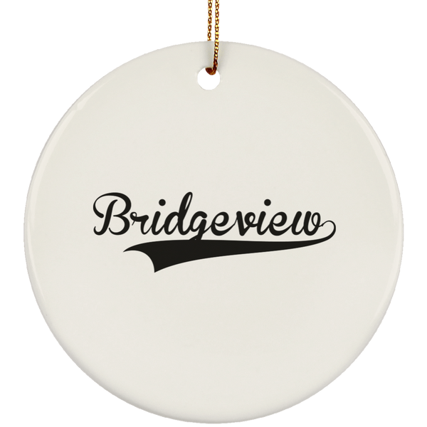 BRIDGEVIEW Christmas Ornament Custom City Name Personalized Decorations