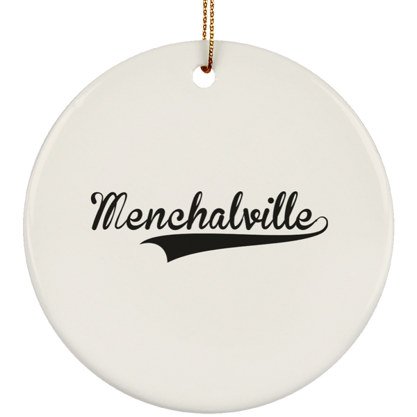 MENCHALVILLE Christmas Ornament Custom City Name Personalized Decorations