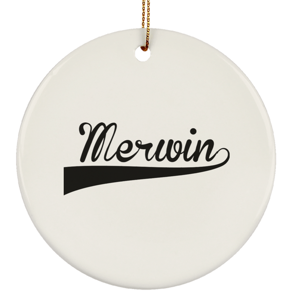 MERWIN Christmas Ornament Custom City Name Personalized Decorations
