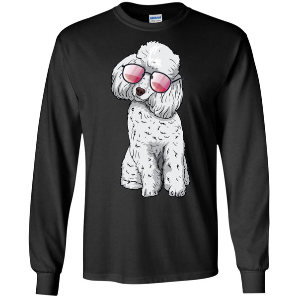 Poodle Dog Sunglasses Funny Long Sleeve Shirt, Gifts for Dog Puppy Lovers