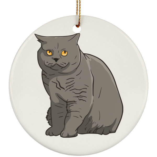 British Shorthair Cat Ornament Christmas Tree Ornaments Holiday Decor
