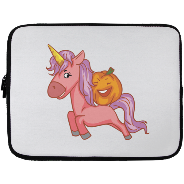 Halloween Unicorn Pumpkin Laptop Sleeve, Gifts for Trick Treat Party