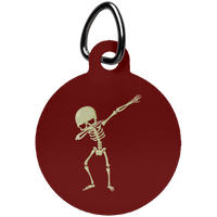 Halloween Skeleton Dabbing Pet Dog Tag Cat, Gifts for Trick Treat Skull Party