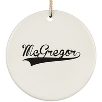 MCGREGOR Christmas Ornament Custom City Name Personalized Decorations