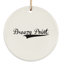 BREEZY_POINT Christmas Ornament Custom City Name Personalized Decorations