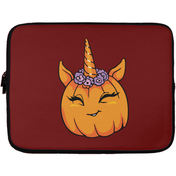 Unicorn Pumpkin Halloween Laptop Sleeve, Gifts for Trick Treat Costume Party