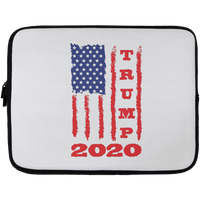 Trump 2020 USA Flag Laptop Sleeve, Gifts for Republicans Conservative