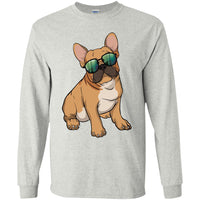 French Bulldog Long Sleeve Shirt, Cute Gift for Cute Dog Lovers