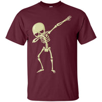 Halloween Skeleton Dabbing Shirt, Gifts for Trick Treat Skull Party