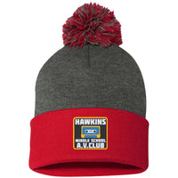 Hawkins Middle School AV Club Pom Beanie