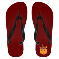 Unicorn Pumpkin Halloween Flip Flops, Gifts for Trick Treat Costume Party