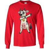 Dabbing Cow Long Sleeve Shirt, Gifts for Farm Animal Lovers