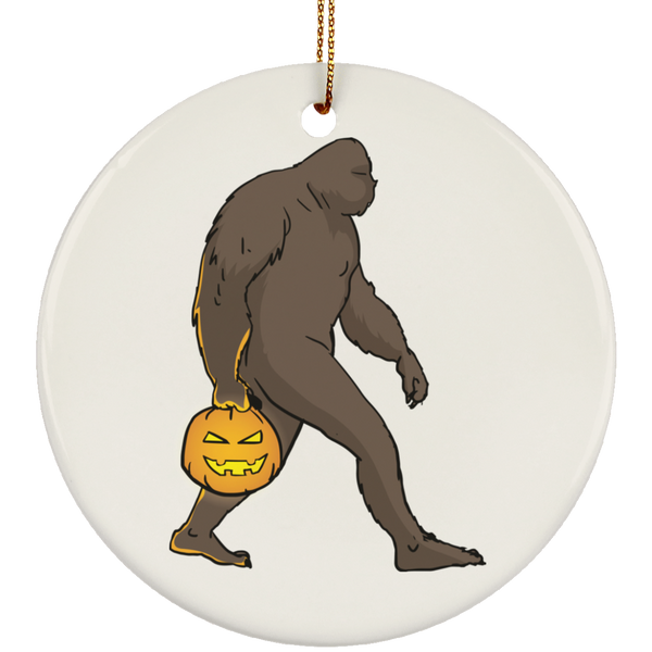 Halloween Bigfoot Sasquatch Pumpkin Christmas Tree Ornaments, Gifts for Costume Party