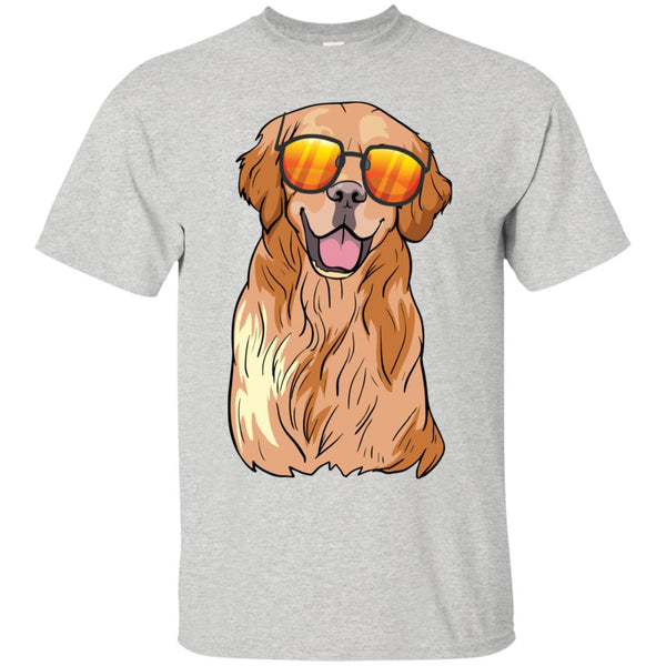 Golden Retriever Dog Tee Shirt Boys Girls Men Women Kids Youth