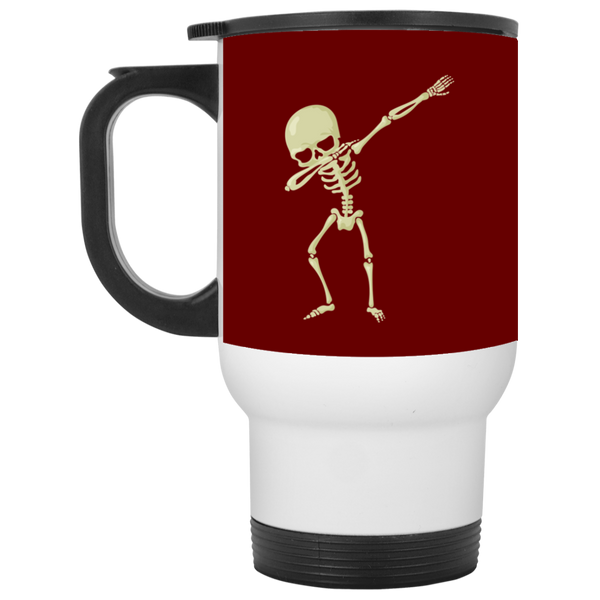 Halloween Skeleton Dabbing Travel Coffee Mug, Gifts for Trick Treat Skull Party