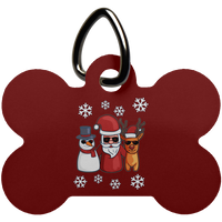 Santa Snowman Reindeer Pet Dog Tag Cat, Christmas Gifts for Snow Lovers