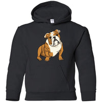 Bulldog Hoodie Sweatshirt, Funny Gift for Cute Dog Lovers