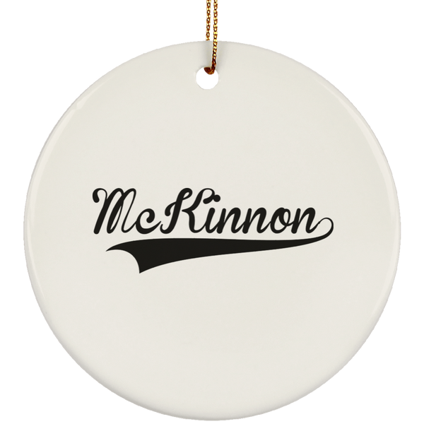 MCKINNON Christmas Ornament Custom City Name Personalized Decorations
