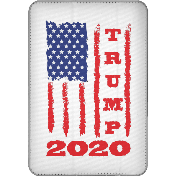 Trump 2020 USA Flag Flip Case for iPad, Gifts for Republicans Conservative
