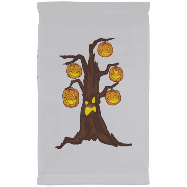 Halloween Pumpkin Tree Kitchen Towel, Gifts for Candy Treat Scary Trick