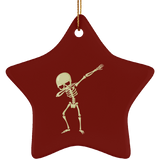 Halloween Skeleton Dabbing Christmas Tree Ornaments, Gifts for Trick Treat Skull Party