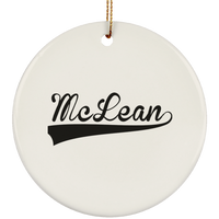 MCLEAN Christmas Ornament Custom City Name Personalized Decorations