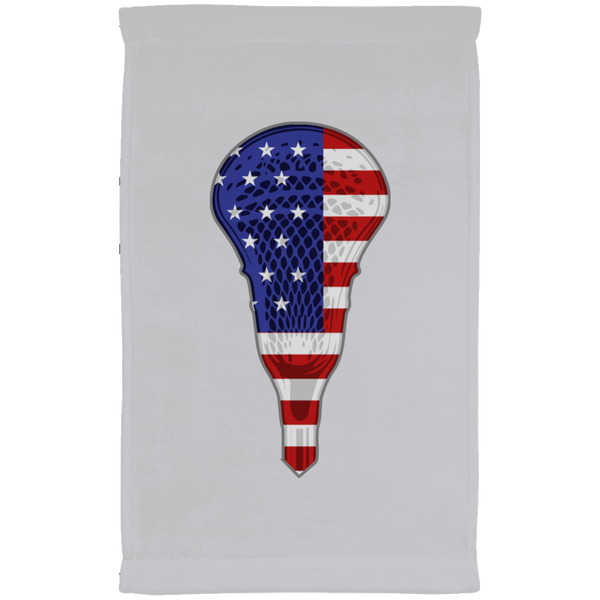 Lacrosse USA Flag Kitchen Towel, Gifts for Lacrosse Players Sports Lovers