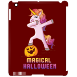 Dabbing Halloween Unicorn Clip Case for iPad, Gifts for Pumpkin Candy Treat Scary Trick