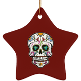 Skull Christmas Tree Ornaments, Sugar Gifts for Day of the Dead