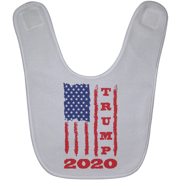Trump 2020 USA Flag Baby Bib, Gifts for Republicans Conservative