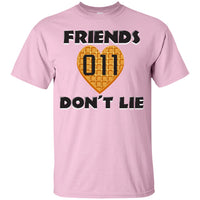 Friends Don't Lie Stranger Heart Shaped Waffle Eleven Unisex Plus Size T Shirt for Men Women Kids Boys Girls Adult Youth