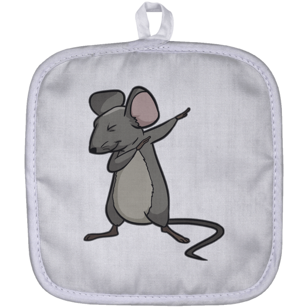 Dabbing Mouse Rat Pot Holder, Gifts for Rodent Lovers