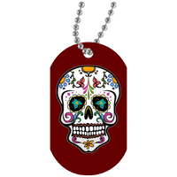 Skull Dog Tag, Sugar Gifts for Day of the Dead
