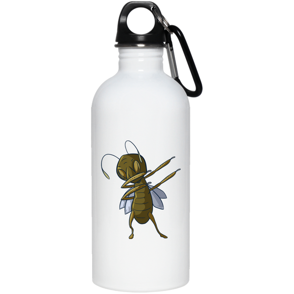 Grasshopper Stainless Steel Water Bottle, Dabbing Gifts for Insect Bug Lovers