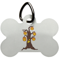 Halloween Pumpkin Tree Pet Dog Tag Cat, Gifts for Candy Treat Scary Trick