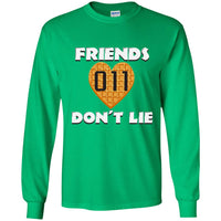 Friends Don't Lie Stranger Heart Shaped Waffle Eleven Unisex Long Sleeve T Shirt for Men Women Kids Boys Girls Youth Adult Plus Size