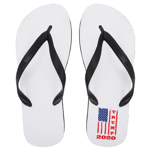 Trump 2020 USA Flag Flip Flops, Gifts for Republicans Conservative