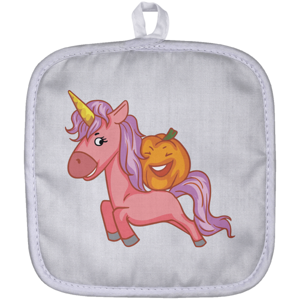 Halloween Unicorn Pumpkin Pot Holder, Gifts for Trick Treat Party