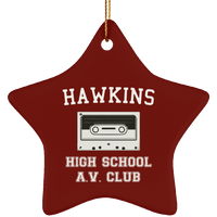 Hawkins High School Christmas Tree Ornaments, Christmas Gifts for AV Club Lovers